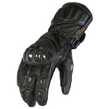 Mens New Black Cowhide Leather Motorcycle / Motorbike Protective Racing Gloves