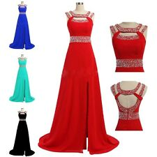 2014 Long Evening Formal Bridesmaid Wedding Ball Gown Prom Party Chiffon Dresses