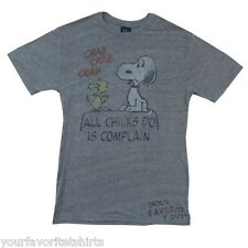 Peanuts All Chicks Do Is Complain Junk Food Vintage Adult T Shirt
