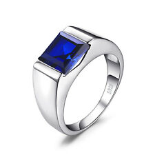 8.4ct AMAZING NEW Sapphire Men's Ring Solid 925 Sterling Silver Sz. 7 8 9 10 11