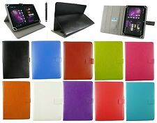 Universal Multi Angle Wallet Case Cover + Stylus for 7 - 8 inch Tablet