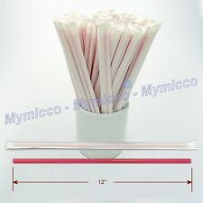 Large Diameter Soda Drink Party Drinking Straws Long Paper Wrapped - Mymicco 124