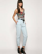 NEW MOTEL ROCKS CHAMBRAY DENIM SUMMER HAREM TROUSERS SIZES 8 10 12 14
