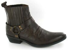 MENS COWBOY STYLE BOOTS IN BROWN A3003 B