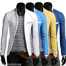 003 New Fashion Mens Slim Fit Stylish Casual One Button Suit Coat Jacket Blazers