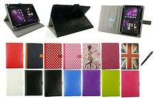 Universal Multi Angle Wallet Case Cover Folio  for 8-9 inch Tablet with stylus