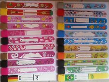 SOS Notfall Infoband Kids ID Band Armband Mädchen Jungs viele neue Designs