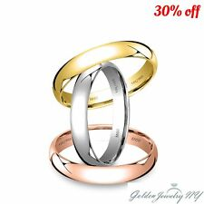 SOLID 14K WHITE YELLOW ROSE GOLD PLAIN COMFORT FIT WEDDING BAND RING MENS WOMEN