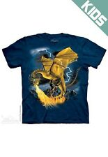 THE MOUNTAIN GOLDEN DRAGON FLAMES FLY THUNDER CHILD YOUTH KIDS TEE T SHIRT S-XL
