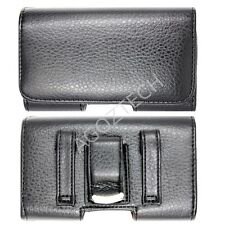PREMIUM Quality Horizontal Leather Belt Clip Case Pouch for Cell Phones NEW