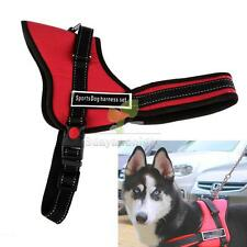 Comfortable Medium Large Size Dog Pet Adjustable Soft Chest Harness Red NIGH