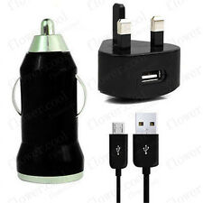WALL MAINS+CAR CHARGER+MICRO USB LEAD CABLE FOR Amazon Kindle Fire HD Paperwhite