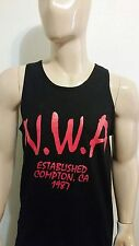 NWA ESTABLISHED  BLACK TANK TOP  Ice Cube  DR. DRE LA rappers cali COMPTON  DOGG