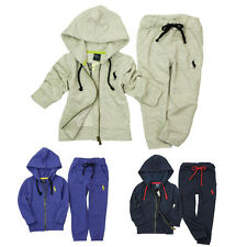 Kids Boys Sets Polo Casual Sports Hoodies Coat + Pants Trousers 2Pcs Outfits 2-7