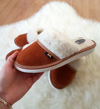 Black Sheep Suede Leather Slippers Wool Shoes 3 4 5 6 7 8 flip flop mule summer