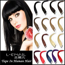 100% Remy Human Hair Extensions PU Tape in fashion hair piece 20pcs/50g