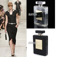 2014 Luxury Women PERFUME BOTTLE Shaped Acrylic Clutch Evening Bag Purse Handbag