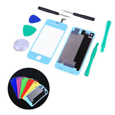Colors Front Screen Glass Lens+Back Rear Cover Replacement for iphone 4S+Tools