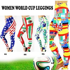 WOMEN WORLD CUP LEGGINGS TEAM SOCCER FOOTBALL FULL LENGTH PANTS BRAZIL