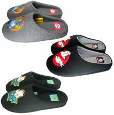 MENS MULE SLIPPERS SHOES GHOSTBUSTERS THE SIMPSONS HOMER FAMILY GUY SIZES S,M,L