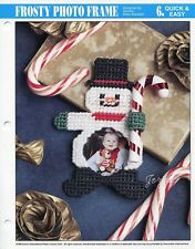Frosty Photo Frame ~ Snowman Picture Frame, Annie's plastic canvas pattern