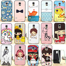 Cute Cartoon 2 in 1 PC & Soft TPU Hybrid Case Cover For Samsung Galaxy S5 i9600
