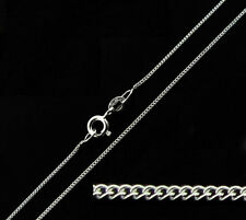 "1mm Wide solido 925 argento Sterling 16 18 20 22 24 ""pollici BELLE cordolo catena di collegamento"
