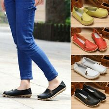 New Womens Padded Leather Casual Walking Bowed Loafers Moccasin Flat Shoes R7994