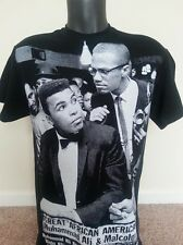 MUHAMMAD ALI MM6064. AND MALCOLM X BLACK HISTORY, AFRICAN AMERICAN T-SHIRT