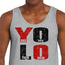 YOLO You Only Live Once T-shirt Drake Motto cool The Weeknd Men's Tank Top