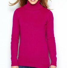 LADIES PINK ULTRA SOFT ROLL NECK JUMPER SIZE 14 TO 24 BNIP