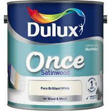 Dulux Retail Once Satinwood Paint Pure Brilliant White 2.5L / 750ml