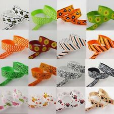 New wholesale 5 Yards 5/8'' 16mm Bright printed Grosgrain Ribbon Optional