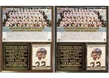 1974 Pittsburgh Steelers Super Bowl IX Champions Photo Card Plaque Franco Harris
