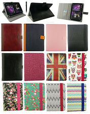 "Stylish Universal Multi Angle Wallet Case Cover for Tablet 7""- 8"" inch +Stylus"