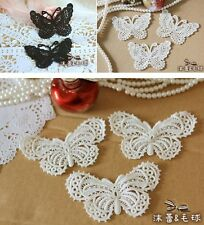 3pcs Vintage Butterfly Lace Appliques Embroidery Patches Trim