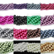New Arrived European Glass Loose Pearl Beads 4/6/8/10/ 12/14/16mm U Pick Color