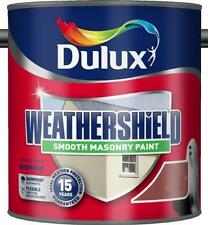 Dulux Weathershield Smooth Masonry Colours Paint Black or Brick Red 2.5 Litres
