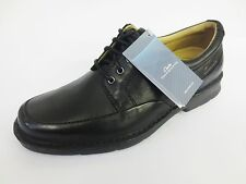 Clarks Mens Salute Fast Black Lace Smart Shoes Wider Fitting (H) ~ Sale