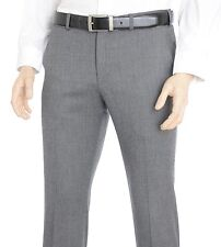 Express Photographer Mens Slim Fit Light Gray Textured Wool Blend Dress Pants