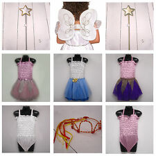Dancer Princess Fairy Childrens Girls Fancy Dress Dressing Up Costumes Outfits