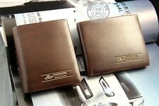 2014 New Leather Brand Men's Wallet Coin Purse Card Holder Money Clip Brown