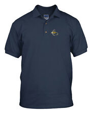 FISHING FLY FISHING Embroidery Embroidered Unisex Adult Golf Polo Shirt