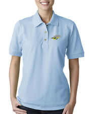 FLY FISHING Embroidery Embroidered Lady Woman Polo Shirt