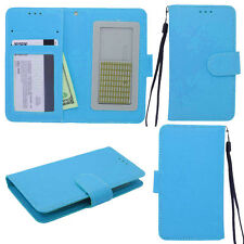 BRILLIANT Teal Universal Wallet Phone Case Pouch Flip Cover For Motorola