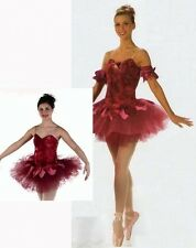 WALTZ OF THE FLOWERS Burgundy Ballet Tutu CHRISTMAS Dance Costume Adult & Child