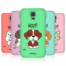 HEAD CASE HAPPY PUPPIES REPLACEMENT BATTERY BACK COVER FOR SAMSUNG GALAXY S5