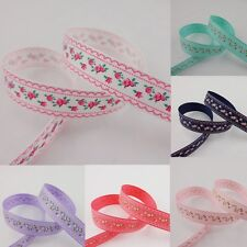 "Free shipping 5 -10 Yards 3/8'' ,5/8'' ,1"", 1.5"", printed Grosgrain Ribbon"