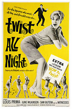 Poster LETS TWIST ALL NIGHT.Louis Prima 1962 Retro Film Poster A1 A2 A3 A4 Größe