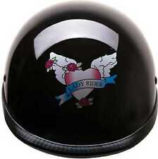 HCI Women's Black Lady Rider Motorcycle Polo Helmet - ABS Shell 105-218